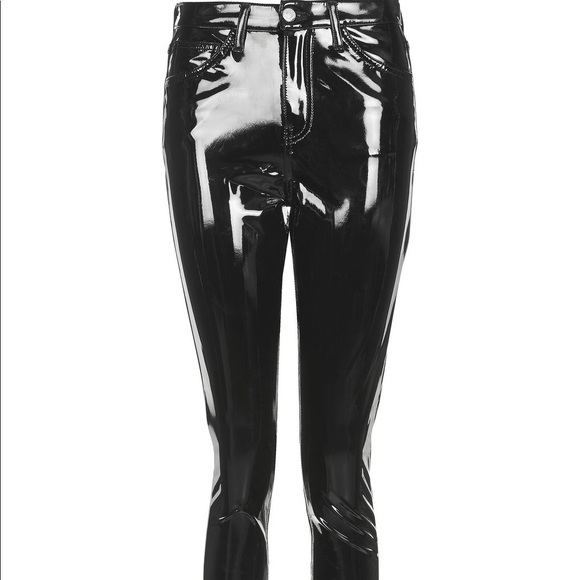 hot product best value arriving TOPSHOP MOTO JAIME PATENT LEATHER TROUSER NWT